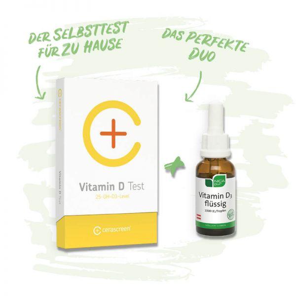 Vitamin D Vorsorgepaket - einfach & schmerzfrei zu Hause durchführen - umfangreicher Ergebnisbericht