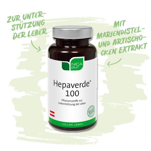 Hepaverde® 100- Zur Unterstützung deiner Leber mit Mariendistel- und Artischocken Extrakt