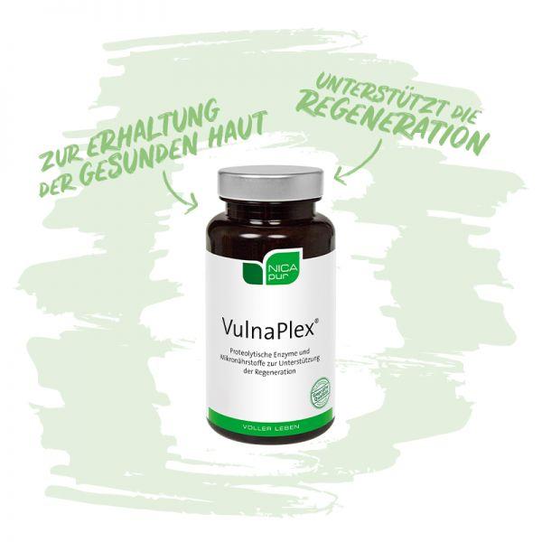 VulnaPlex® - Unterstützt die Regeneration und den Erhalt gesunder Haut - Reinsubstanzen, Glutenfrei, Laktosefrei