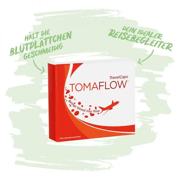 TomaFlow® - TravelCaps - Dein idealer Reisebegleiter, insbesondere bei langem Sitzen wie bei Langstreckenflügen- In perfekter Reisegröße!