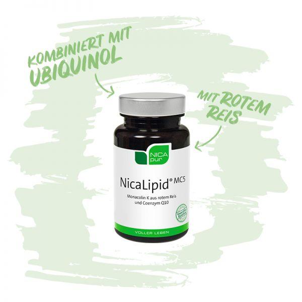 NicaLipid® MC5 - Kombiniert mit Ubiquinol und rotem Reis-Reinsubstanz, Glutenfrei, Laktosefrei, Vegan