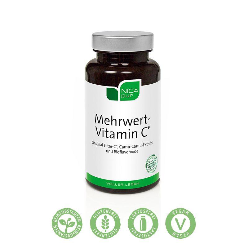 NICApur Mehrwert-Vitamin C® - 60 Kapseln - Power-Vitamin C