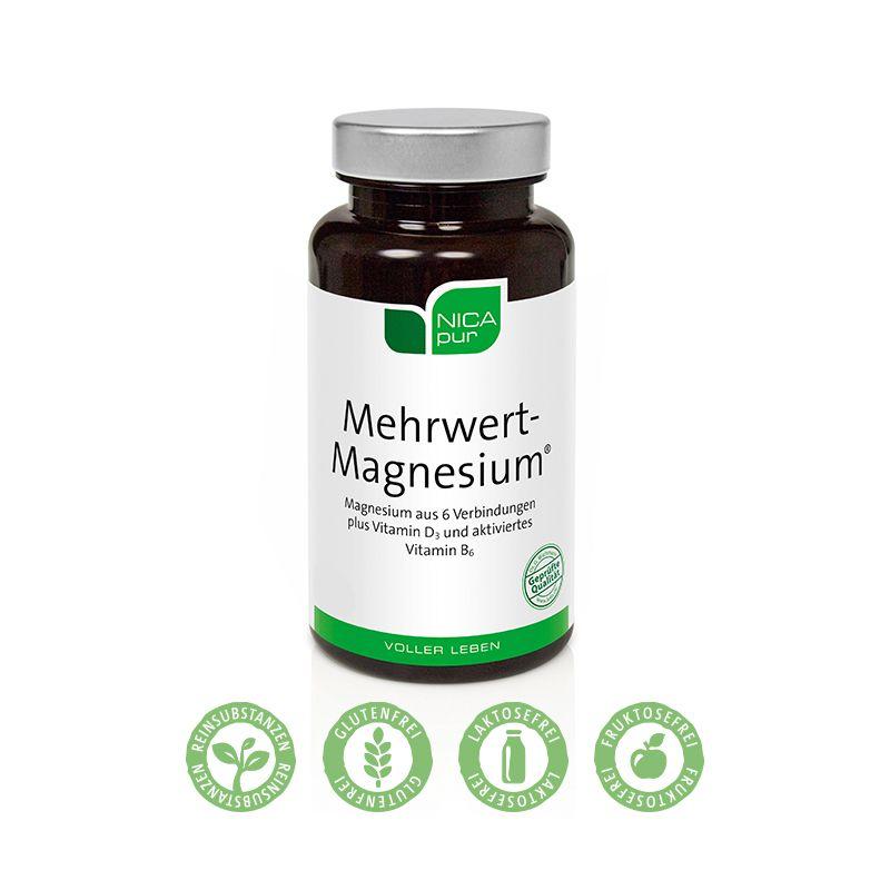 NICApur Mehrwert-Magnesium® - Unterstützt die Nerven- und Muskelfunktion