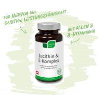 Lecithin & B-Komplex - Deine Gehirn- und Nervennahrung - mit 8 B-Vitaminen und Sonnenblumen-Lecithin
