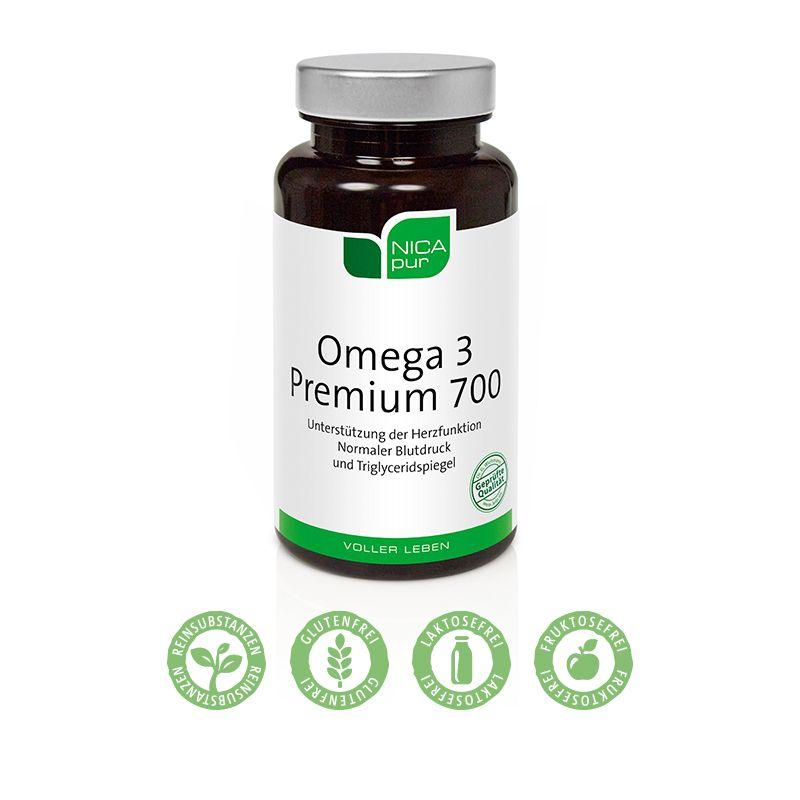 Omega 3 Premium 700 - Hochkonzentriertes Fischöl zur Erhaltung gesunder Herzfunktion