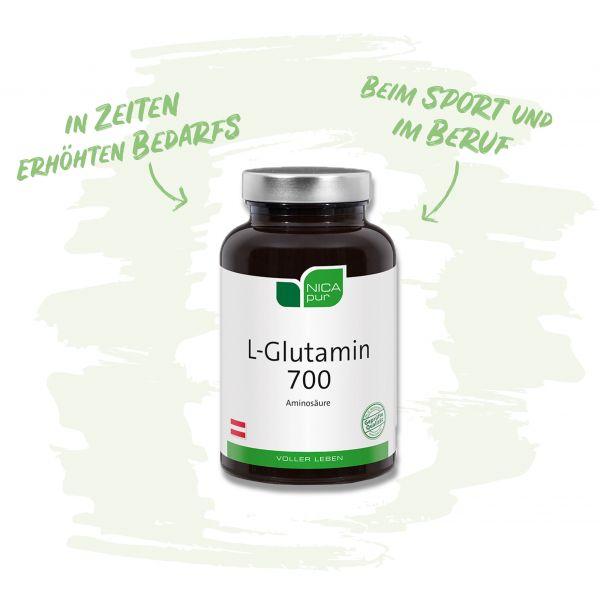 L-Glutamin 700 - die Aminosäure für Sportler sowie Berufstätige