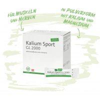 Kalium Sport GL 2000 - für Muskeln und Nerven - mit Kalium, Magnesium und L-Glutamin- Ideal für unterwegs!