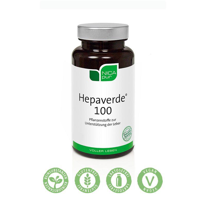NICApur Hepaverde® 100 - Unterstützung für die Leber mit Mariendistel & Artischocke