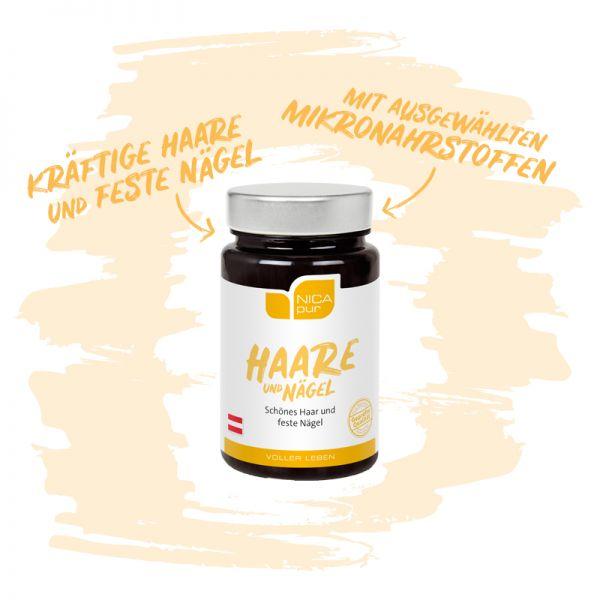 Haare und Nägel - Für kräftige Haare und feste Nägel mit ausgewählten Mikronährstoffen, Reinsubstanz, Glutenfrei, Laktosefrei