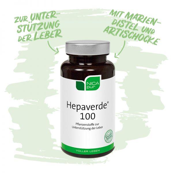 Hepaverde® 100- Zur Unterstützung deiner Leber mit Mariendistel- und Artischocke