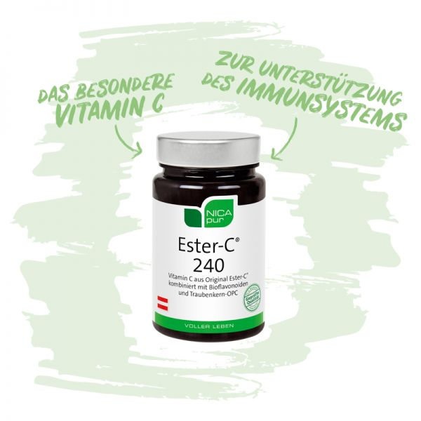 Ester-C® 240 - Zur Unterstützung deines Immunsystems,Reinsubstanzen, Glutenfrei, Laktosefrei, Vegan