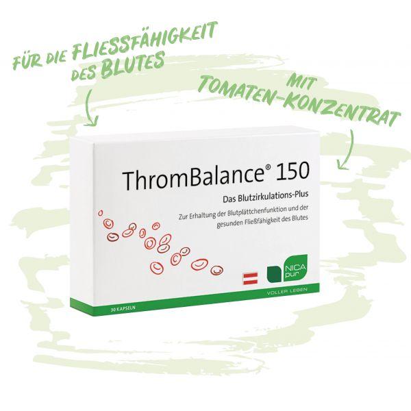 ThromBalance® 150 - Für die Fließfähigkeit des Blutes mit Tomaten-Konzentrat-Ideal für sitzende Berufe und Vielflieger