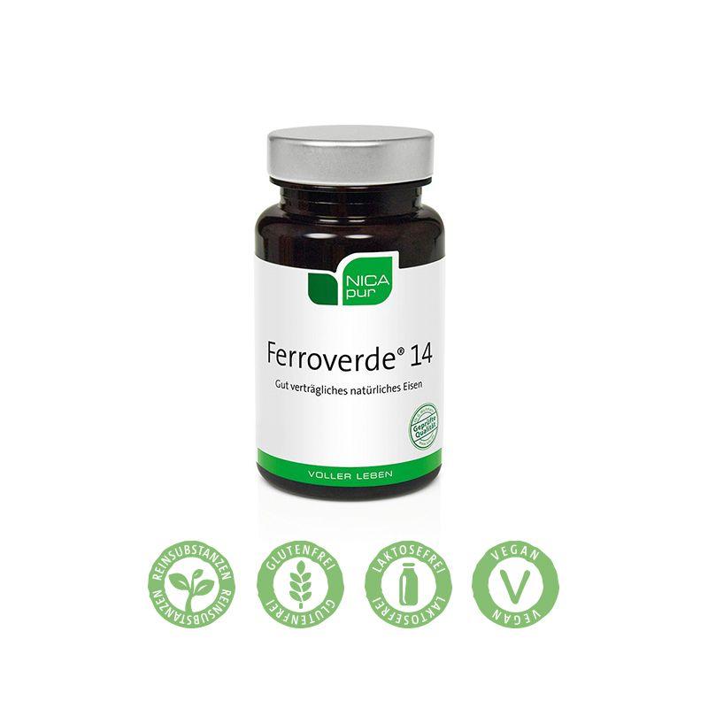 Eisen aus rein natürlicher Quelle (Pilz Aspergillus oryzae) kombiniert mit Vitamin C. Besonders gut verträglich.