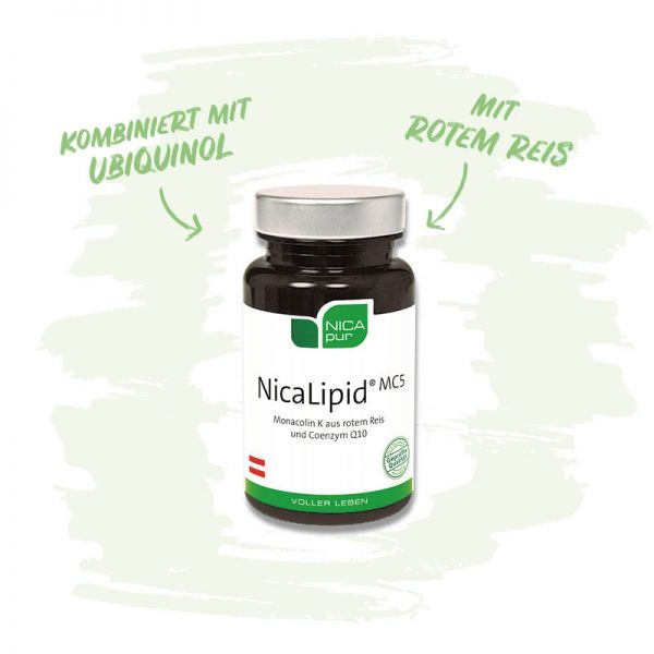 NicaLipid® MC5 - Kombiniert mit Ubiquinol und rotem Reis