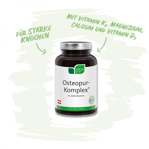 Osteopur-Komplex® - Für starke Knochen mit Vitamin K2, Magnesium, Calcium und Vitamin D3