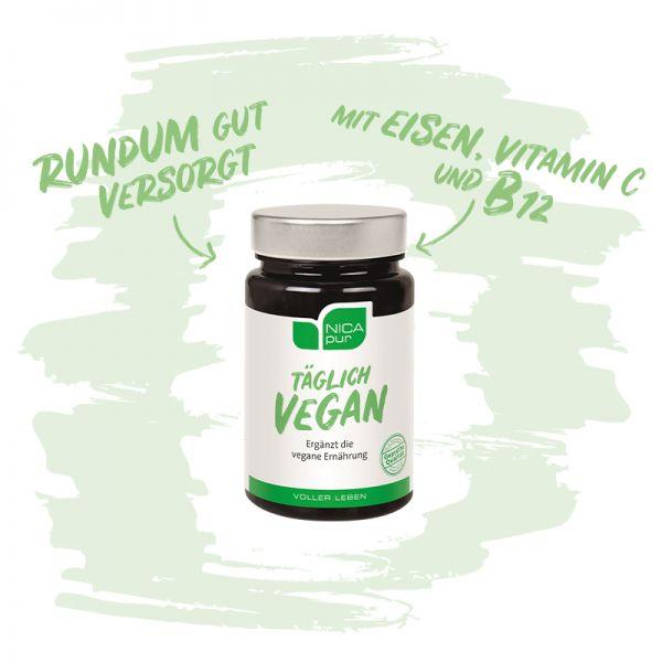 Täglich Vegan - Rundum gut versorgt - mit Eisen, Vitamin C, Vitamin B12 und Vitamin D3