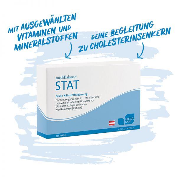 mediBalance® STAT - Bei Einnahme von Cholesterinsenkern, Reinsubstanz, Glutenfrei, Laktosefrei, Vegan