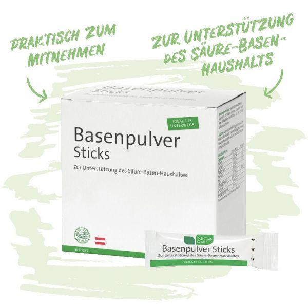 Basenpulver Sticks für unterwegs- Dein Säure-Basen-Haushalt im Gleichgewicht