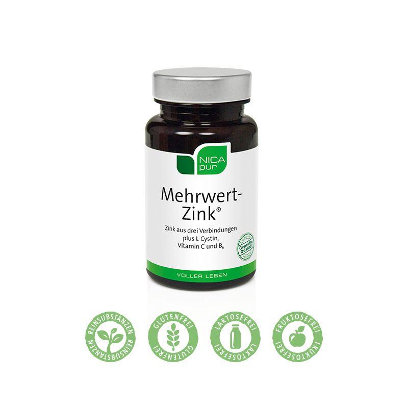 NICApur Mehrwert-Zink® - 60 Kapseln - Für dein Immunsystem.