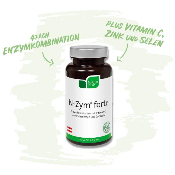 N-Zym®-forte- 4-fach Enzymkombination mit Vitamin C, Zink und Selen