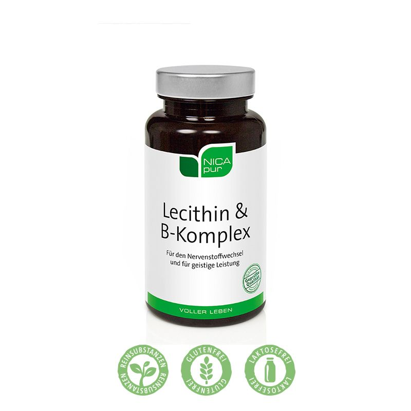 NICApur Lecithin & B-Komplex - Für deine Nerven - mit allen B-Vitaminen