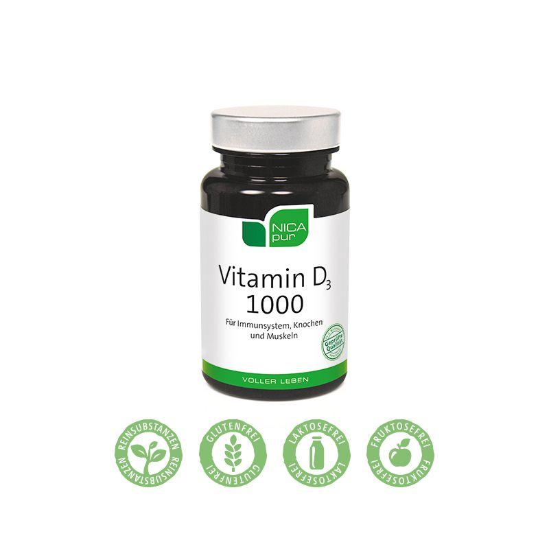 Vitamin D3 1000 - Für Dein Immunsystem, Knochen & Muskeln - 120 Kapseln