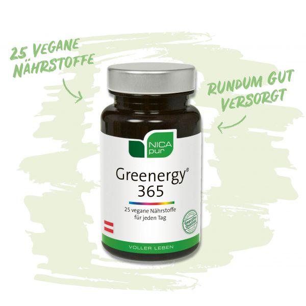 Greenergy® 365 - 25 vegane Nährstoffe für deine Rundumversorgung