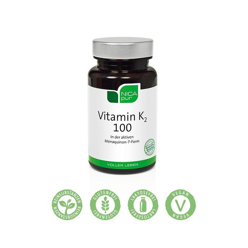 NICApur Vitamin K2 100 - 60 Kapseln - Für starke Knochen