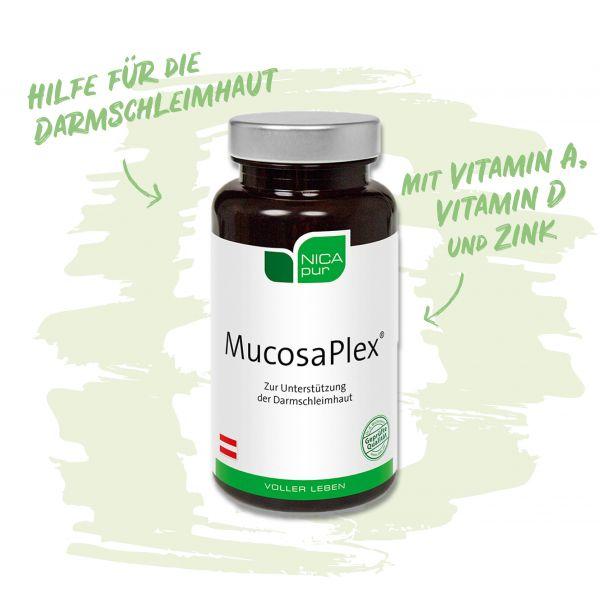 MucosaPlex® - Hilfe für deine Darmschleimhaut mit Vitamin A, Vitamin D, Zink und L-Glutamin