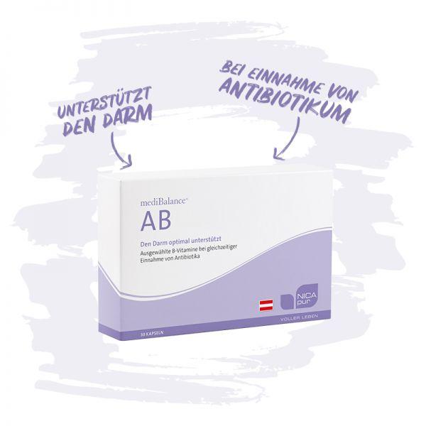 mediBalance® AB - Unterstützt den Darm bei Einnahme von Antibiotikum