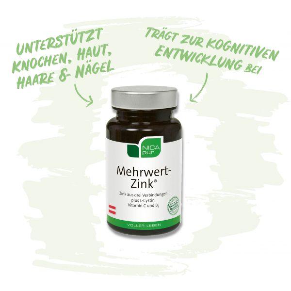 Mehrwert-Zink® - Unterstützt deine Knochen, Haut, Haare und Nägel