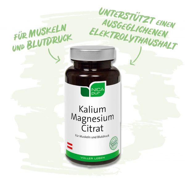 Kalium Magnesium Citrat- für Muskeln und Blutdruck - Unterstützt einen ausgeglichenen Elektrolythaushalt